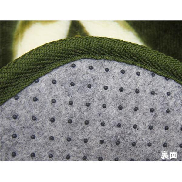 エレガント調 ラグマット/絨毯 【200cm×240cm グリーン】 長方形 防滑 ホットカーペット 床暖房対応 『バルモ』