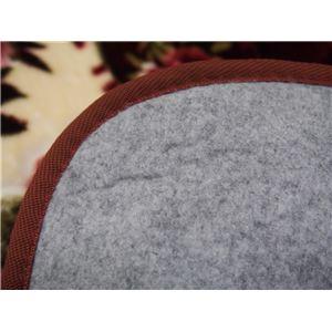 花柄 ラグマット/絨毯 【230cm×230cm ワインレッド】 長方形 ホットカーペット 床暖房対応 『リオ3』