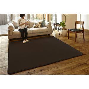 ミンクタッチラグマット/絨毯【200cm×250cmブラウン】長方形洗えるホットカーペット床暖房こたつ対応