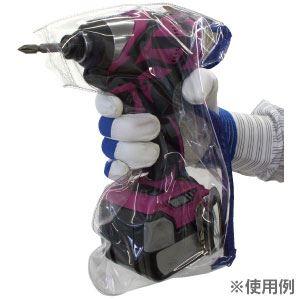 (まとめ)インパクトドライバーカバー【ブラック(黒)×10セット】ジョブマスターJIC-001BK