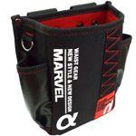 (まとめ)電工ポケット WAIST GEAR 【腰袋スリムタイプ×2セット】 レッド(赤) MDP-91AR マーベル