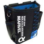 (まとめ)電工ポケット WAIST GEAR 【腰袋スリムタイプ×2セット】 ブルー(青) マーベル MDP-91AB