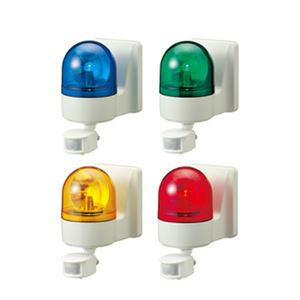 パトライト(回転灯) パトセンサ 壁面取付けセンサ付き回転灯 WHSB-100A AC100V Ф100 防滴 ブザー有り 赤の詳細を見る