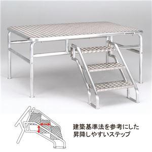 エバニュー(EVERNEW) 朝礼台オールアルミ180EV EKA505 日本製