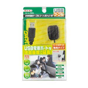 (まとめ) USB電源ケーブル シートポケット用 2886 【×5セット】の詳細を見る