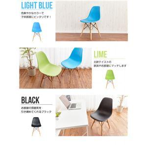 リビングチェア/イームズ チェア dsw (リプロダクト品) ライトブルー(青) 木製/PP製 ミッドセンチュリー家具 の画像