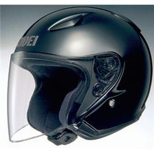 ジェットヘルメット シールド付き J-STREAM ブラック M 【バイク用品】 - 拡大画像