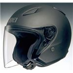 ジェットヘルメット シールド付き J-STREAM マットブラック L 【バイク用品】