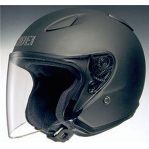 ジェットヘルメット シールド付き J-STREAM マットブラック XL 【バイク用品】 - 拡大画像
