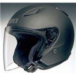 ジェットヘルメット シールド付き J-STREAM マットブラック XXL 【バイク用品】