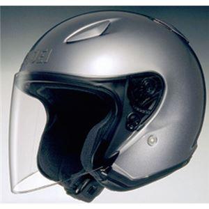 ジェットヘルメット シールド付き J-STREAM パールグレーメタリック M 【バイク用品】 - 拡大画像