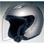 ジェットヘルメット シールド付き J-STREAM パールグレーメタリック L 【バイク用品】