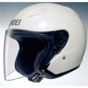 ジェットヘルメット シールド付き J-STREAM ホワイト M 【バイク用品】 - 拡大画像
