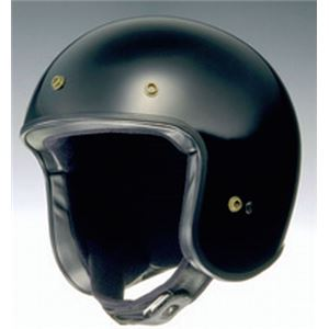 ジェットヘルメット FREEDOM ブラック S 【バイク用品】 - 拡大画像