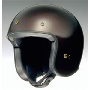 ジェットヘルメット FREEDOM ゴールドブラウン S 【バイク用品】 - 拡大画像