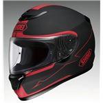 フルフェイスヘルメット QWEST BLOODFLOW TC-1 レッド/ブラック L 【バイク用品】