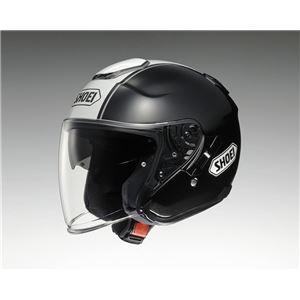 ジェットヘルメット シールド付き J-CRUISE CORSO TC-5 ブラック/ホワイト L 【バイク用品】