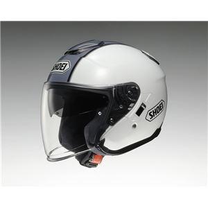 ジェットヘルメット シールド付き J-CRUISE CORSO TC-6 ホワイト/シルバー M 【バイク用品】