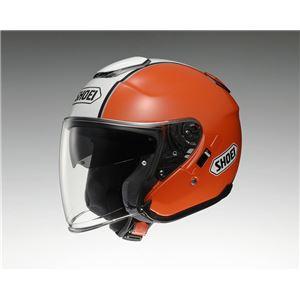 ジェットヘルメット シールド付き J-CRUISE CORSO TC-8 オレンジ/ホワイト XL 【バイク用品】