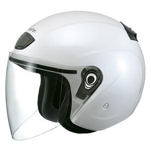 VENIRE ジェットヘルメット シールド付き パールホワイト 【バイク用品】