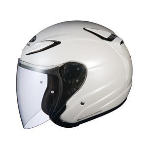 AVAND2 ジェットヘルメット シールド付き パールホワイト L 【バイク用品】