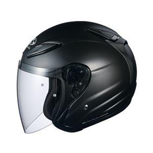 AVAND2 ジェットヘルメット シールド付き フラットブラック M 【バイク用品】