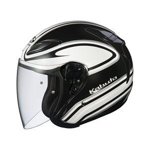 ジェットヘルメット シールド付き AVAND2 STAID ホワイトブラック L 【バイク用品】