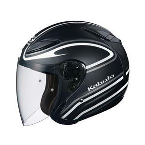 ジェットヘルメット シールド付き AVAND2 STAID フラットブラックホワイト L 【バイク用品】