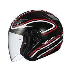 ジェットヘルメット シールド付き AVAND2 STAID ブラックレッド L 【バイク用品】