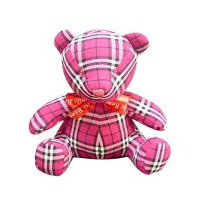 【赤ちゃんぐずり泣き対策 クマイリー】出産祝いプレゼントに大人気(全3色) チェック ピンク - 拡大画像