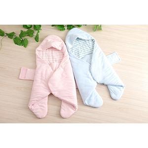 【赤ちゃん安眠おくるみ エマムール】出産祝いに大人気(全2色)ブルー