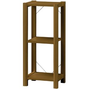 ジャンクインテリア部屋作りに シンプルリビング収納 オープンラック 木製 ブラウン 【Kinarie】きなりえ KNR-9038DK