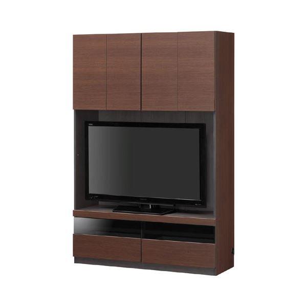 壁面テレビボード TVボード 幅120cm【PORTALE】ポルターレ ブラウン