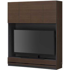 壁面テレビボード TVボード 幅150cm ブラウン 【PORTALE】ポルターレ 【日本製】 - 拡大画像