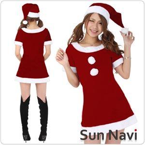 【コスチューム】クリスマスサンタクロース・ショート [SHORT500] 赤・Mサイズ 1点 - 拡大画像