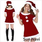 【コスチューム】クリスマスサンタクロース・ショート [SHORT500] 赤・Mサイズ 1点