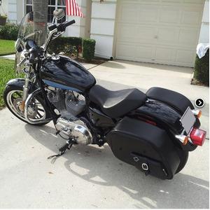 【高級品質】 ハーレーソフテイル ファットボーイ スタッズサドルバック WVLX600S (ラージサイズ)Harley Softail Fatboy