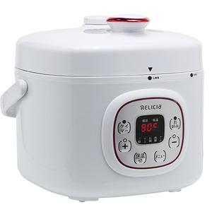 ダイヤモンドコーティング電気圧力鍋 ジョイック ホワイト