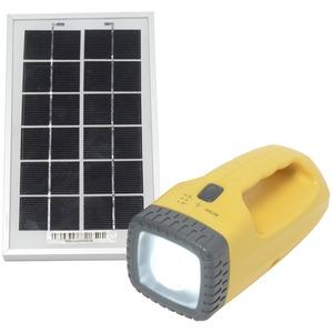 ソーラー式 LED 懐中電灯  【防災・災害対策グッズ】 - 拡大画像