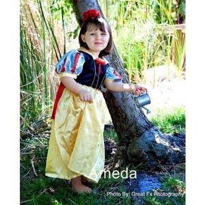 【キッズコスプレ】白雪姫ドレス豪華フルセット(L:130cm) 子供用 - 拡大画像