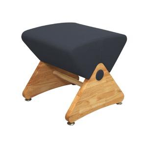 スツール モナディー 木製椅子デザイナーズスツール アジャスター付き クリア(布:ネイビー/ABS)【Mona.Dee】モナディー WAS01S