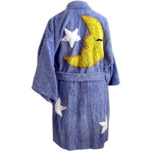 (キャニオングループ) Canyon Group キモノバスローブ プラッシュ・シェニール Moon & Stars Bedroom Blue