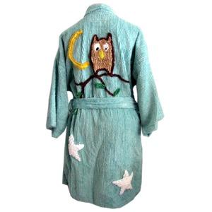 (キャニオングループ) Canyon Group キモノバスローブ デミ・シェニール Night Owl Turquoise