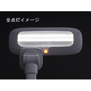 TWINBIRD LED デスクライト キッズにも最適 着せ替えセードリング付き ホワイト LE-H501W