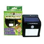 【4個組】電源不要!取付簡単!壁掛けタイプ LED ソーラーライト ×常夜灯×センサーライト