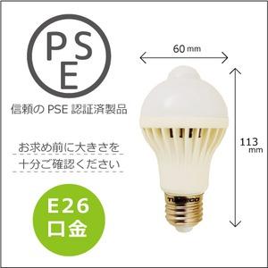 Wセンサー内蔵電球人が来たら自動点灯、勝手に消灯で省エネ 昼白色電球【10個組】