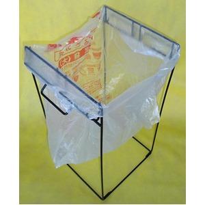 組立て式ゴミ袋スタンド 【2分別】 スチール製 取っ手付き 日本製 〔園芸 ガーデニング キャンプ アウトドア〕