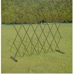 簡易フェンス(伸縮式間仕切り/柵/ゲート) スチール 日本製 〔園芸 ガーデニング用品〕