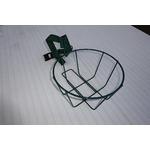 プランターハンガー/ポールハンガー 【4〜7号鉢用 バスケット型】 表面コーティング仕様 日本製 〔園芸 ガーデニング用品〕の画像
