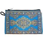 トルコ財布(ペルシャ絨毯柄) 中サイズ ライトブルー